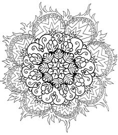 June Moon's free visionary artwork, free mandala colouring pages - http://www.junemoon.com/free.html