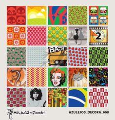 Azulejos Adesivos Decora nº 008 www.mejoganaparede.com.br