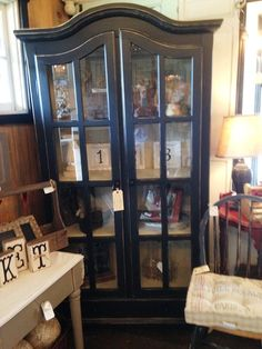 French Country Black beautiful cabinet at The Shabby Cottage