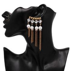 2018 Vintage Boho Style Beautiful Crystal Chandelier Big Earrings For Women #dropdangle #dropearrings #womensfashion