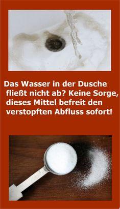 Das Wasser in der Dusche fließt nicht ab? The water in the shower does not drain? Do not worry, this remedy immediately