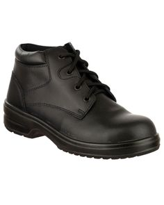 huge discount 63e18 9b946 Ladies Black Leather Four Eyelet Lightweight Safety Boots Lightweight Safety  Boots, Safety Footwear, Timberland