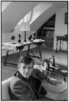 Henri Cartier-Bresson // FRANCE. Paris. 1976. James LORD, British writer.