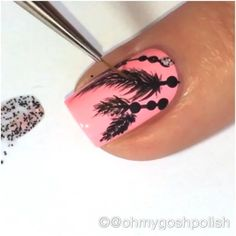 Quickie IG  Tutorial for my Feathery mani using @kiaraskynails  Chatterbox and Polka Dots.  Also black acrylic craft paint and my fine detail brush MAXI from @stylishnailartshop . Song is UP by Olly Murs feat. Demi Lovato.