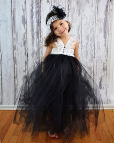 Oh if i had a daughter...Black and White tutu halter Tuxedo style Dress by PoshGarden