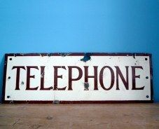 another telephone sign