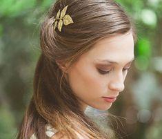 Gold Wedding Hair Clip Wedding Bobby Pin Wedding by EchoandLaurel