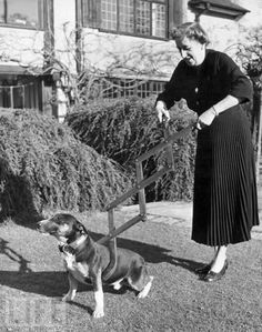 Agatha Christie and her dog