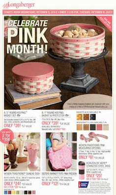 """Celebrate Pink Month! Get """"in the pink"""" with this collection of beautiful pink items! Perfect for gifts/prizes during Breast Cancer Awarenes..."""