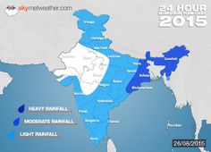 Monsoon India 2015: Southwest Monsoon Forecast For August 26 -