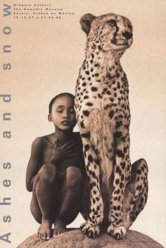 Child with Cheetah, Mexico Art Print by Gregory Colbert at Art.com