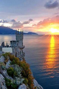 The Swallows Nest.....Gaspra, Crimean Peninsula        Just breathtaking.....fairytale