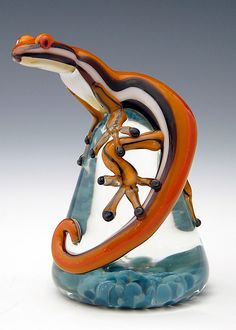 Mango Racer Stripe Lizard Paperweight by Eric Bailey - because what Dad doesn't love lizards?