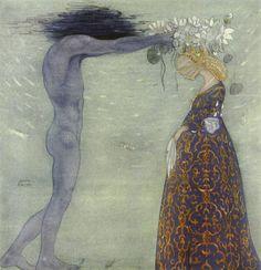 'Agneta & the Sea King' - Agneta och Sjökungen by Helena Nyblom (1843-1926) illustrated by John Bauer (1882-1918)