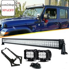 """2X 6/"""" White Bull Nudge Bar grille toit Rail front Spot Lampes 24 V Camion"""