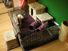 Great little area for your house bunnies to call their own and they can come and go as they please too!