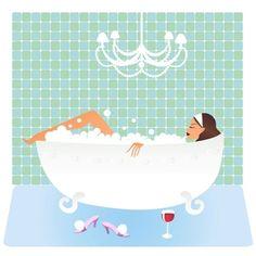 wat my bath time looks like
