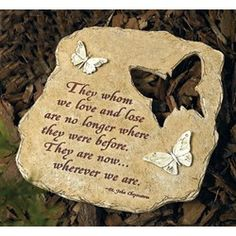 Fairy Memorial Stone Quotes Pinterest Memorial gardens