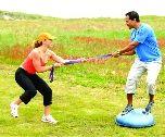 Partner Exercises. Make exercise fun.