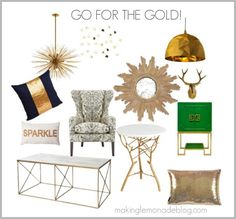 Mixed Metallics Home Decor : How to Mix Gold, Silver, Copper and Bronze for a SHOWSTOPPING look! www.makinglemonadeblog.com