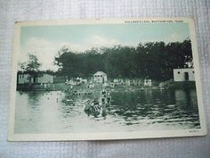 """""""Real Photo"""" Black and White Post Card Holland's Lake Weatherford Texas 1940"""