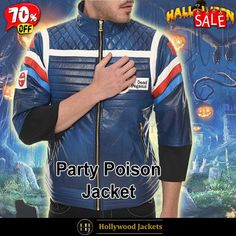 #Halloween Hot offer Get 70% #TvSeries My Chemical Romance #PartyPoison Biker Style Blue Leather Jacket. #HalloweenSale #Halloween #Sale #2021 #OOTD #Style #Cosplay #Costum #men #fashionstyle #women #jacket #shopnow #Clothes #leather #discountoffer #outfit #tvseris #bikerjacket #onlineshopping #discount #buymypremium #celebrities #offers #fashion #movie