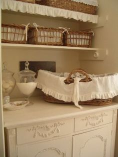 Vintage Laundry Rooms and Decorating Ideas - via Pam Designs