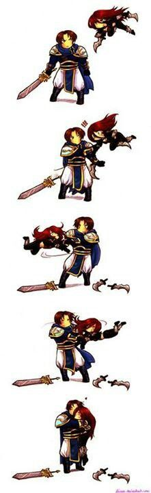 The couple that spins together, wins together. Garen x Katarina