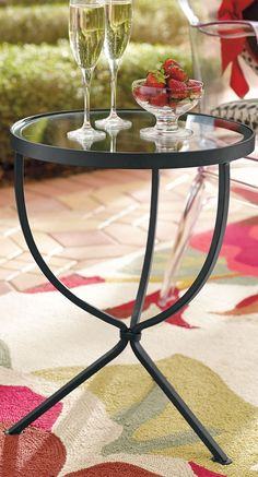 Presenting our Layla Outdoor Side Table: Simple, classic, and the perfect smart-sized companion to a chair or sofa, indoors or out.