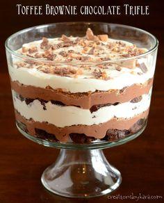 Toffee Brownie Chocolate Trifle Recipe on Yummly. @yummly #recipe