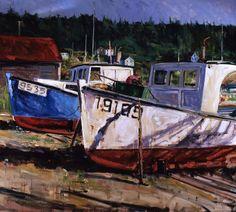 Nova Scotia Boat Scene by Jeremy Winborg