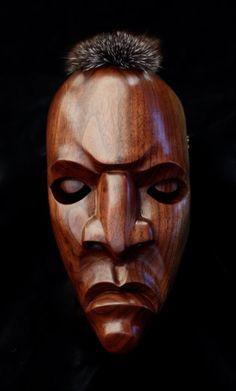 Joshua Adams.  Eastern Band of Cherokee Indians.  Wood sculture