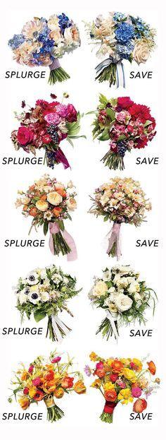 Two Bouquets, Two Bu - Florist One  Two Bouquets, Two Budgets: Save vs. Splurge Wedding Flowers. Dream Designs Florist  http://47flowers.info/two-bouquets-two-bu/