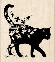 Black cat art This but maple leaves would be cute. Crazy Cat Lady, Crazy Cats, Fall Cats, Black Cat Art, Black Cats, Black Kitty, Image Chat, Cat Silhouette, Cat Tattoo