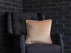 Plain Cushions, Velvet Cushions, Initial Cushions, Pipe Decor, Velvet Material, Wingback Chair, Pillow Inserts, Throw Pillows, Cover
