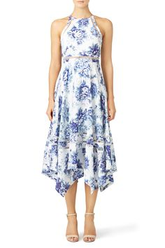 Rehearsal dinner or engagement pictures   Porcelain Picnic Dress by ELLIATT for $50   Rent The Runway