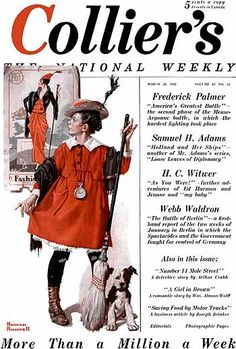 """The Little Model"" 3/29/1919 by Norman Rockwell for Collier's The National Weekly, cover"