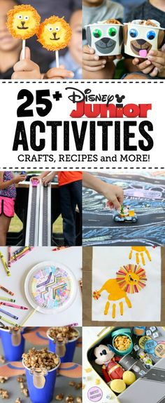 If you have Disney Junior fans in your home, then this is the list for you! Ward off summer boredom with this fun list of 25+ Disney Junior Activities - Crafts, Recipes and More! via @anightowlblog
