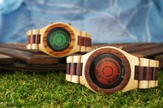 Digital wooden watch