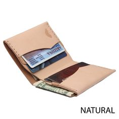 Bison No. 4 Wallet in Choice of Natural Leather or English Bridle Leather by Hermann Oak - Fendrihan - 4