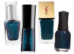 Get Ready for Fall with New Mani Colors - BLUE from #InStyle