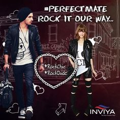 The beats get you both going, and you find yourself swooning at a concert! Dress up in #INVIYA®, you might find each other as well! #RockChic #RockDude