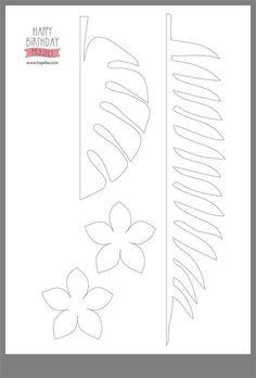 Jungle Theme Birthday, Moana Birthday Party, Dinosaur Birthday Party, Diy Birthday, Paper Flowers Craft, Giant Paper Flowers, Flower Crafts, Diy Flowers, Leaf Template