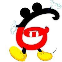 G Original alfabeto inspirado en Mickey Mouse.