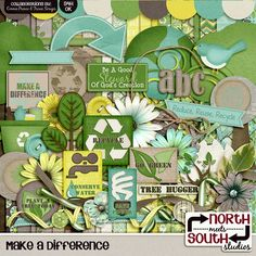 Make A Difference Digital Scrapbooking Collab Kit Earth Day - Make A Difference - Collab Kit by North Meets South Studios (Connie Prince & Trixie Scraps).