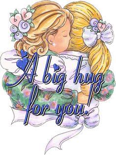 A big hug to you love friendship hug angel gifs love gifs cute good morning quotes Hugs And Kisses Quotes, Hug Quotes, Kissing Quotes, Sister Quotes, Big Hugs For You, Hug You, Just For You, Abrazo Gif, Hug Images