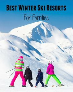 Best Winter Ski Resorts For Families + Travel Giveaway Colorado Resorts, Ski Resorts, Winter Travel, Family Travel, Skiing, Around The Worlds, Mountains, Giveaway, Families