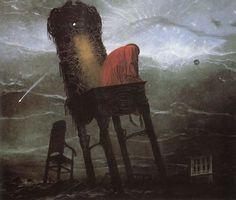 Las obras de este pintor polaco te causarán pesadillas