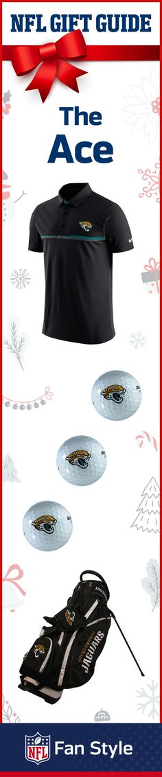 This holiday gift trio is a hole-in-one for any guy who finds nirvana on the links. Add some swag to his golf bag and let him tee up in some Jacksonville Jaguars gear.