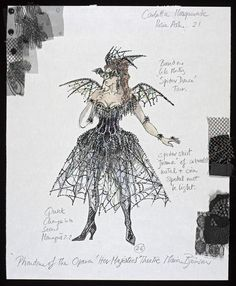 Design for Carlotta in the Masquerade in Act II, scene i, of The Phantom of the Opera. x